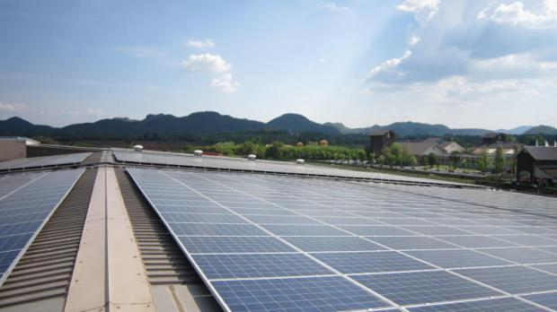 A TSE-built solar rooftop project in Nakhon Ratchasima. The company is looking to expand its business to provide renewable energy to other countries. Image supplied by the Bangkok Post