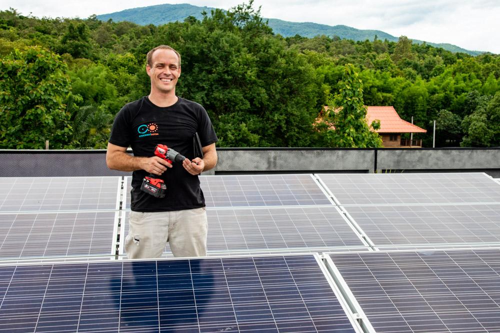 Sean Abbott Solar Installation Chiang Mai, Thailand