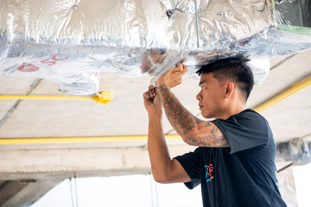 Eyekandi solar Air Conditioning Duct Installation in Chiang Mai, Thailand
