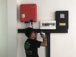 Intallation of Eyekandi Solar Electrical system in Chiang Mai, Thailand